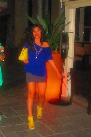 asos bag - Zara t-shirt - Stradivarius skirt - fullah sugah wedges