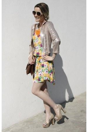 Altramarea heels - sequined H&M blazer - Manoush belt