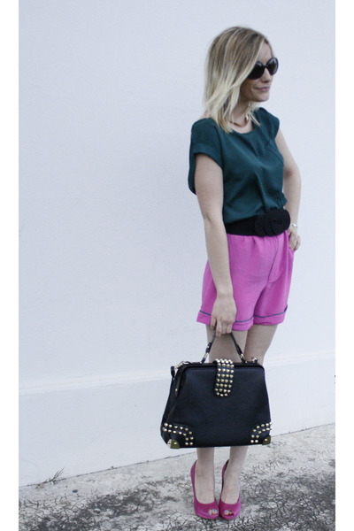 Marni for H&M shorts - paul & joe sunglasses - scarlet roos blouse - H&M belt