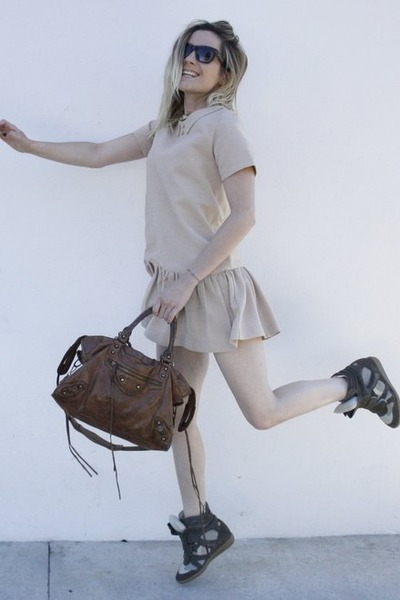 Isabel Marant shoes - Suncoo dress - balenciaga bag - Celine sunglasses