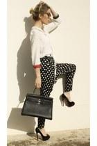 Christian Louboutin heels - Hermes bag - Emmanuelle Khanh sunglasses