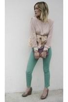 TS blouse - vintage bag - H&M pants - H&M wedges - asos watch - H&M necklace