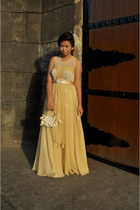 gold designed by me custom made dress