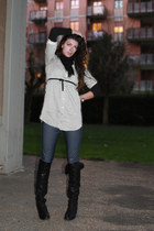 Stradivarius shirt - Zara leggings - Bata boots