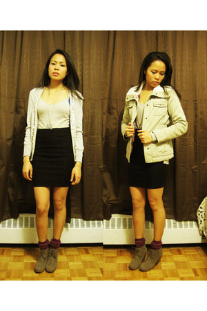 London Rebel boots - Old Navy jacket - H&M socks - Forever 21 skirt - Forever 21