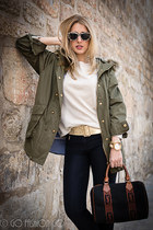 olive green Zara coat