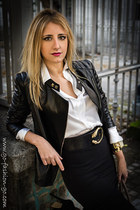 black Uterque jacket - black Caractere skirt