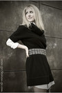 Black-camilla-skovgaard-boots-black-wool-dress-cortefiel-dress