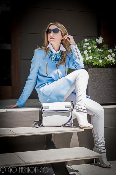 Zara coat - Elisabetta Franchi shoes - Zara bag - Pedro del Hierro pants