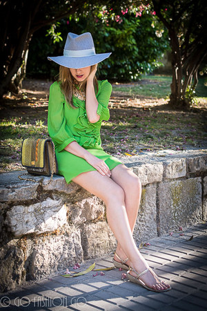 Tibi dress - Zara hat - Angel Jackson bag - Cuple flats