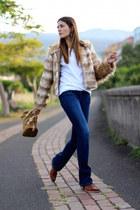 ChiChi London jacket - IT shoes boots - Stradivarius jeans - Michael Kors bag