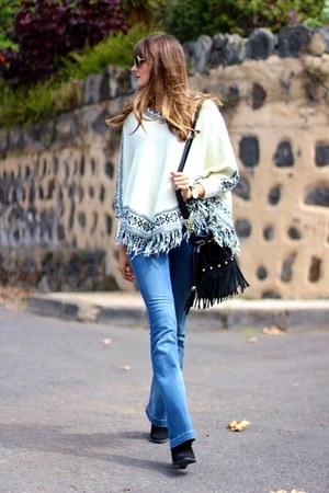 Zara boots - Mango jeans - Choies cape