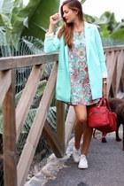 Sheinside jacket - romwe dress - Zara bag - Converse sneakers