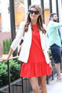Zara-dress-zara-blazer-christian-dior-sunglasses