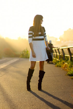 Zara boots - Sheinside dress - christian paul watch