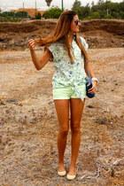 blue natura bag - lime green Zara shorts
