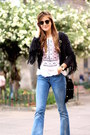 Mango-jeans-sheinside-jacket-ray-ban-sunglasses
