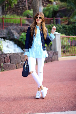 Zara jeans - Sheinside shirt - Adidas sneakers