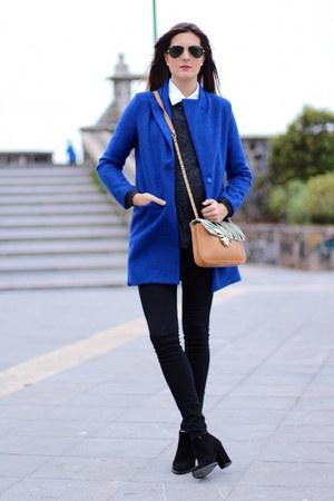 Zara boots - Sheinside coat - H&M leggings - imperio clandestino bag