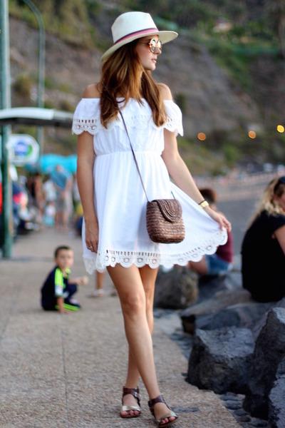 Sheinside dress - green coast sandals - BohoChic hair accessory