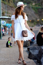 Sheinside dress - green coast sandals - BohoChic hair accessory