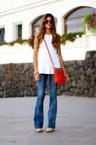 Lusstra bag - Stradivarius boots - Mango jeans - Zara blouse