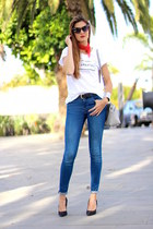 Zara jeans - Michael Kors bag - itshoes t-shirt
