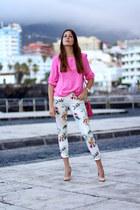 suiteblanco blouse - Zara panties - pull&bear heels