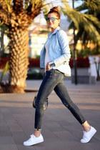shein jacket - Zara jeans - Adidas sneakers