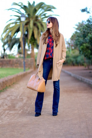 Sheinside coat - Stradivarius jeans - Choies shirt
