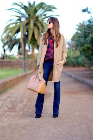 Sheinside coat - Stradivarius jeans - Choies shirt