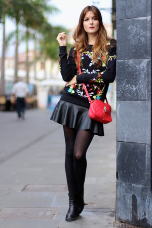 Sheinside sweater - Zara boots - Zara skirt