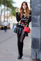 Sheinside sweater - Zara boots - Zara skirt