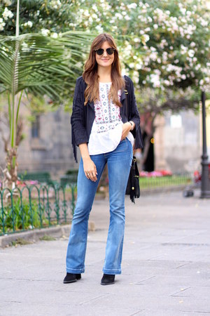 Mango jeans - Sheinside jacket - Ray Ban sunglasses