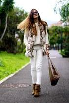Zara boots - Zara jeans - crimson Zara sweater - crimson nowIStyle bag