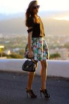 Choies skirt - shein blouse - stuart weitzman heels