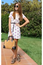 amethyst pepa loves dress - brown El potro bag - brown Zara belt