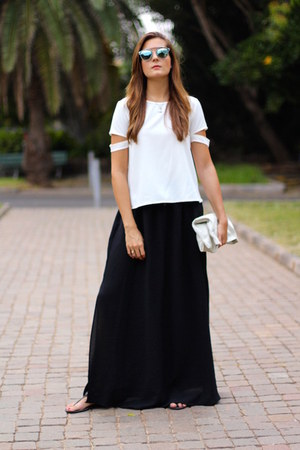 Sheinside shirt - christian dior sunglasses - Zara skirt