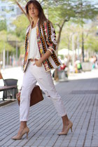H&M jacket - Mango jeans - Zara bag