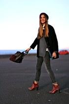 Bershka boots - Zara coat - suchn sweater - natura bag