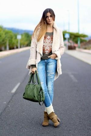 nowIStyle coat - Zara boots - soyunachicanormal sweater