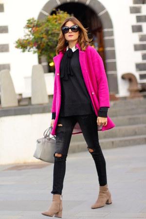 PERSUNMALL coat - Zara boots - H&M sweater - Chanel sunglasses