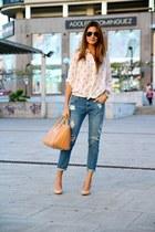Mango jeans - Stradivarius shirt - suiteblanco heels