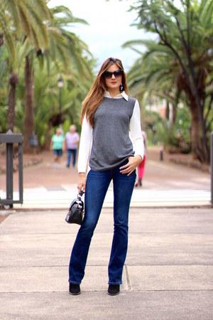 Stradivarius jeans - romwe shirt - Mango sunglasses