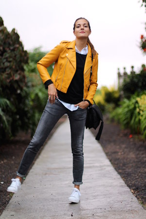 Zara jacket - Bershka jeans - Sheinside sweater - Adidas sneakers