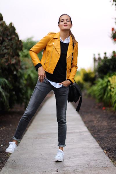 Zara jacket - Bershka jeans - Sheinside sweater - Adidas sneakers