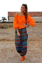 blue natura panties - navy BLANCO bag - carrot orange Lefties heels