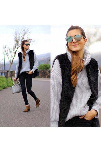 Sheinside sweater - Michael Kors bag - christian dior sunglasses