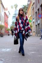 Sheinside cape - Zara boots - Stradivarius jeans