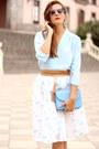 Romwe-skirt-tfnc-blouse-zara-heels-mango-earrings